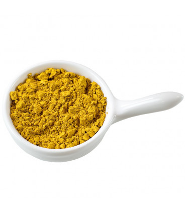 Yellow hydrophilic cosmetic pigment