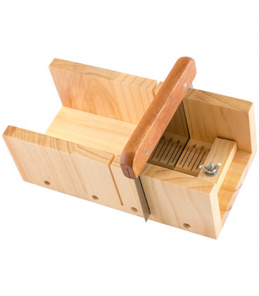 Wooden box for cutting soaps