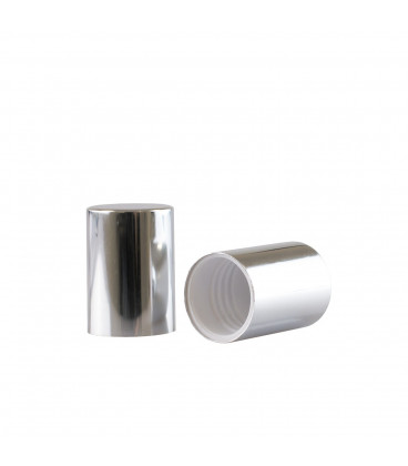 Silver Cap for mini Roll-on glasses of 10 ml