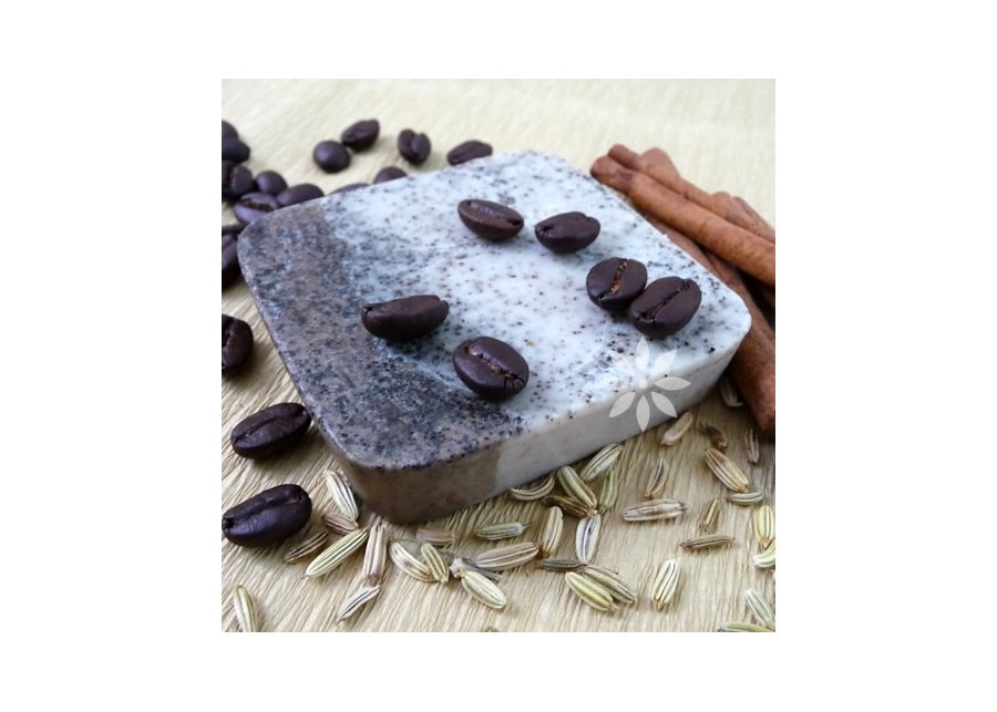 Anti-cellulite soap with coffee