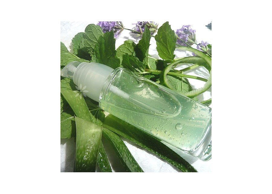 Aloe & Peppermint soothing gel after epilation/shaving